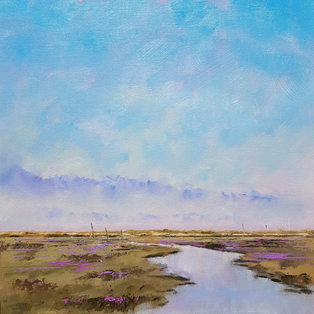 Blue Skies and Sea Lavender - Blakeney