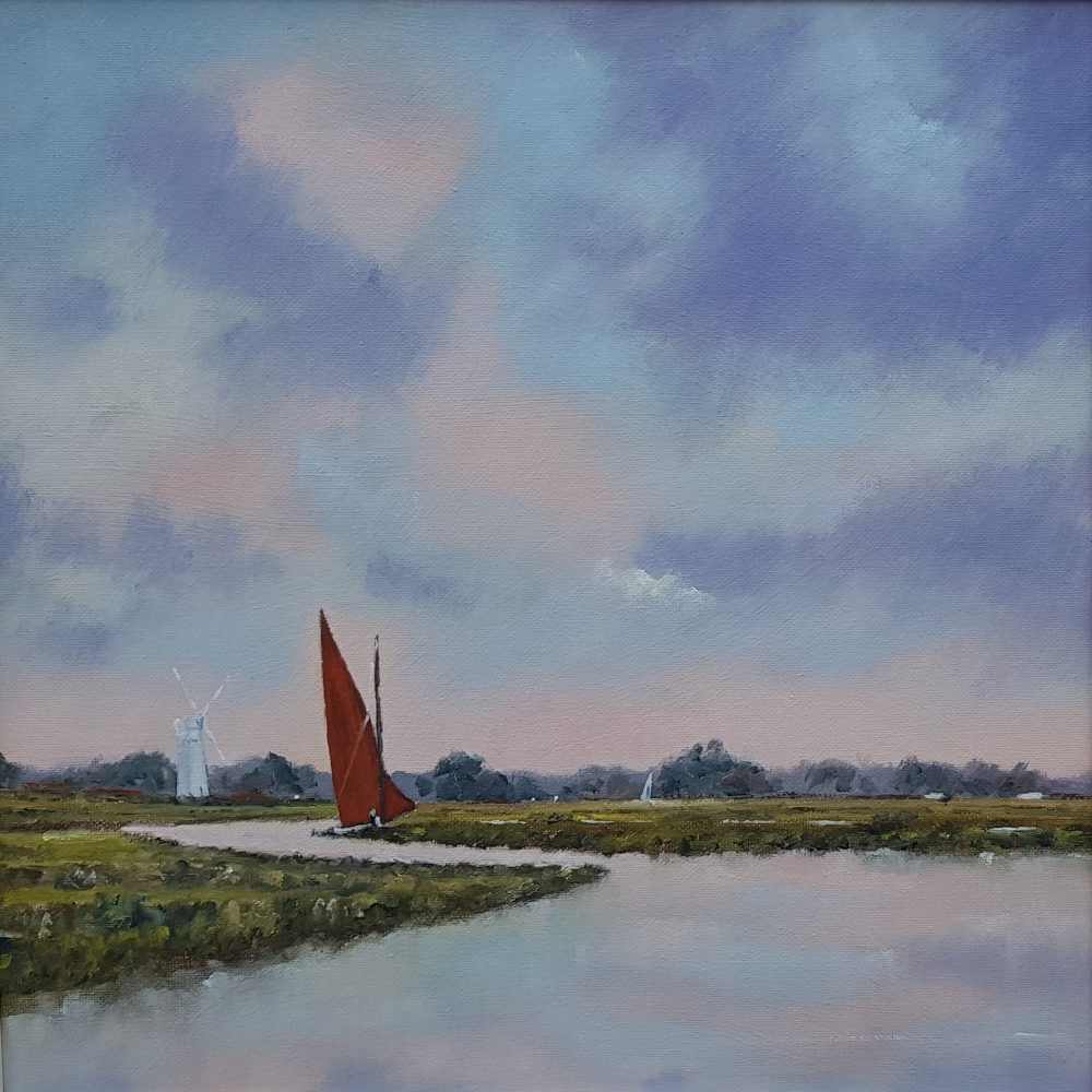 Red Sail River Thurne Norfolk Broads